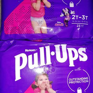 Huggies Pull- Ups Girl's Training Pants 2T-3T for Sale in Goodyear, AZ