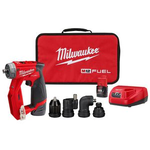 MILWAUKEE M12 FUEL 12-VOLT LITHIUM-ION BRUSHLESS CORDLESS 4-IN-1 INSTALLATION 3/8 IN. DRILL DRIVER KIT WITH 4-TOOL HEADS for Sale in Riverside, IL
