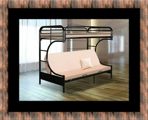 Twin futon bunkbed frame for Sale in Chevy Chase, MD