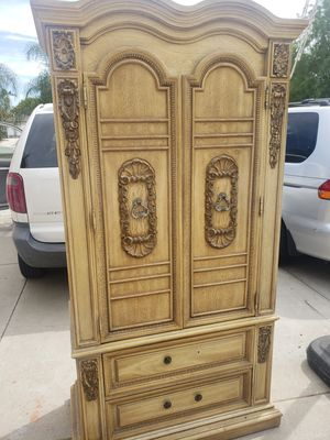 Vintage Stanley furniture armoire with one nightstand for Sale in Baldwin Park, CA