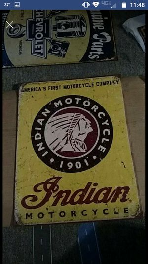 Indian motorcycle sign for Sale in Newton Falls, OH
