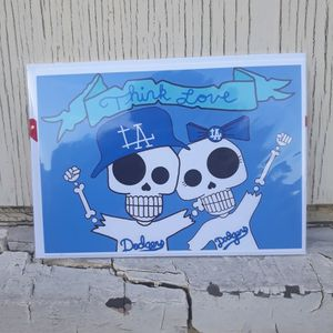 LA Dodgers Day Of The Dead Valentine's Card for Sale in Los Angeles, CA