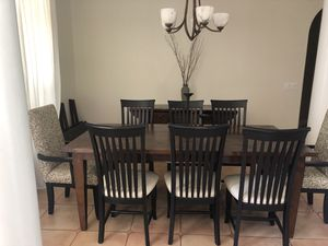 Arhaus Reclaimed Wood Dining Table, Chairs and Buffet for Sale in Winter Park, FL