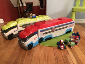 New! PAW PATROL-Dschungel & -Rescue & Transporter Patroller -DOBBLE SET, 5 large & 6 small Vehicle for Sale in Ellicott City, MD