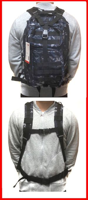 NEW! Tactical Military Style Backpack gym bag work bag travel luggage school bag molle camping hiking biking for Sale in Carson, CA