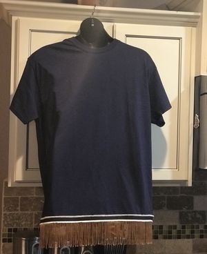 Custom handmade T-shirt w/Blue border and Fringes for Sale in Shreveport, LA