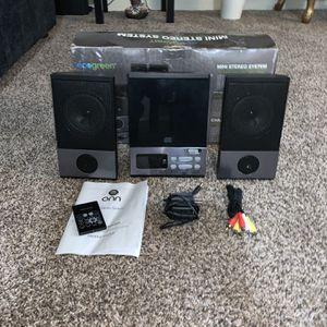 ONN Mini Stereo System ONB15AV203 A CD Player W/AM/FM Stereo Radio Digital for Sale in Los Angeles, CA