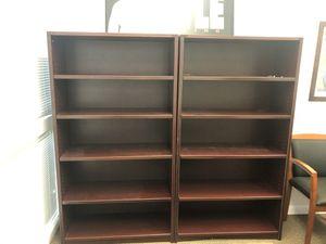 Cherry colored bookshelves for Sale in Phoenix, AZ