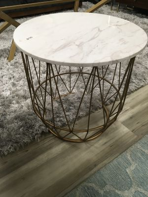 Marble and Brass Side Table for Sale in Des Plaines, IL