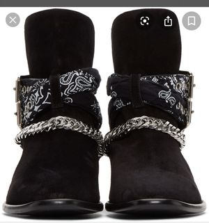 Black bandana boots 9.5 for Sale in Darnestown, MD