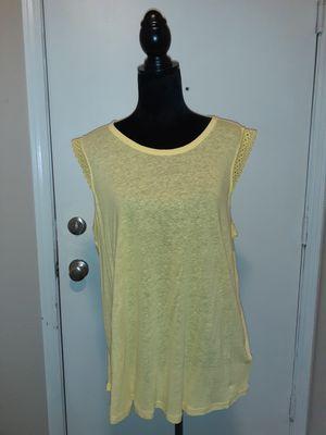 Michael Kors Yellow Sunshine Sleeveless Top, Retail $68 for Sale in Federal Way, WA