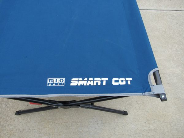 Rio Gear C3280-18W Large Camping Cot Blue 350 Lbs