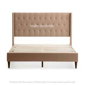 NEW, LINEN LIKE FABRIC, QUEEN BED FRAME WITH VARIOUS COLORS AND SIZES. for Sale in Santa Ana, CA