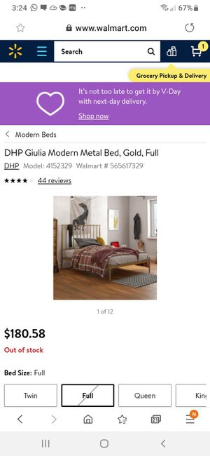 New full size bed frame mattress not included for Sale in Charlotte, NC