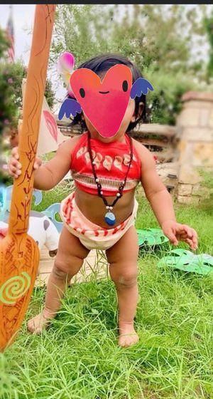 Baby Moana bathing suit set with Moana oar for Sale in Phoenix, AZ