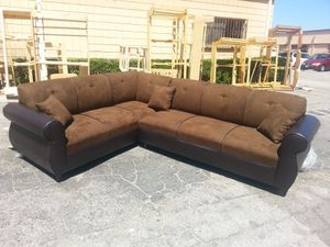 NEW 7X9FT CHARCOAL MICROFIBER SECTIONAL COUCHES for Sale in Corona, CA