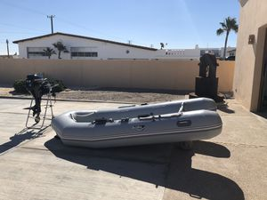 Achilles Inflatable Boat w Engine for Sale in Phoenix, AZ