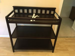 CHILDCRAFT dark brown baby child changing table for Sale in Gaithersburg, MD