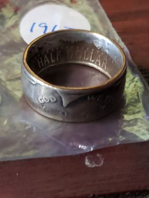 1967 Kennedy Half Dollar Coin Ring Size 8 1/2 for Sale in Bakersfield, CA
