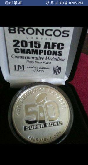Superbowl 50 Medallion for Sale in Derby, KS