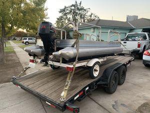 Fisherman's 10x5 pontoon boat runs for Sale in Fresno, CA