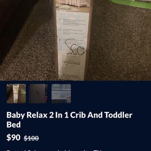 Baby Relax 2 In 1 Crib And Toddler Bed for Sale in Mesquite, TX