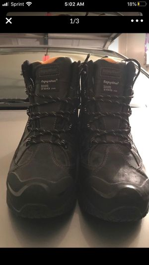Iight steal toe boots expensive boots never been woren for Sale in Upland, CA