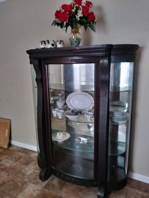 Antique china closet with dishes for Sale in Portsmouth, VA