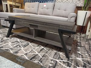 Coffee Table with One Drawer, Distressed Grey for Sale in Santa Fe Springs, CA