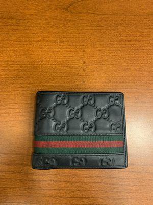 Gucci Black Logo Leather Bi-fold Wallet for Sale in Anaheim, CA