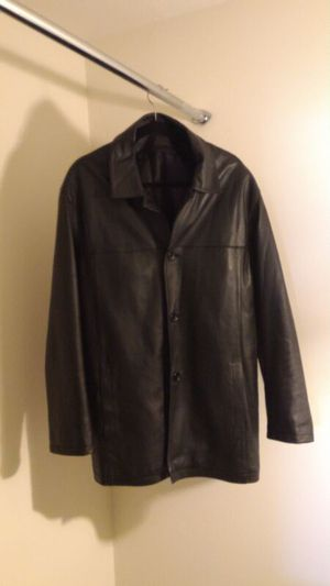 Black leather jacket for Sale in Chevy Chase, MD