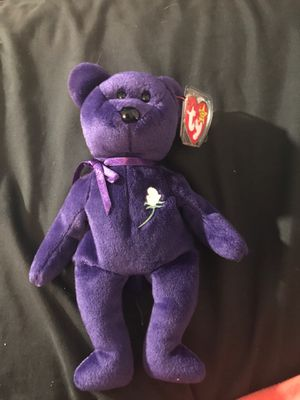Extremely Rare 1996 Princess Diana Beanie Baby, 1/100 Made, P.E. Pellets, New condition for Sale in Greenville, SC