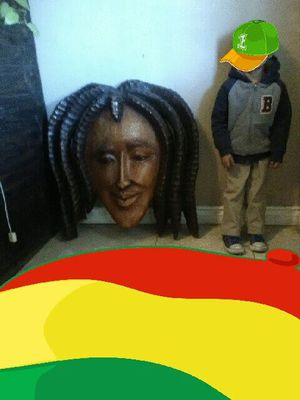 BOB MARLEY HAND MADE CARVED WOOD WALL ART for Sale in Las Vegas, NV