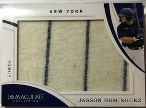 2020 Immaculate Jasson Dominguez jumbo pinstripe patch 49/49 EBay 1/1 for Sale in Lock Haven, PA