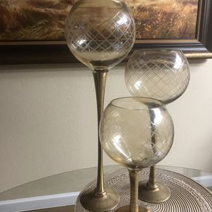 Wine Glass Candle Holder Set for Sale in Gold River, CA