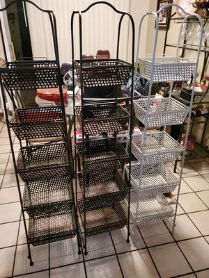 Metal baskets tower for Sale in Tucson, AZ