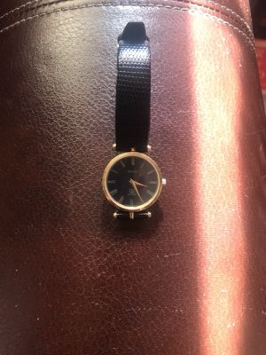Gold and black Qucci watch! for Sale in Boothbay Harbor, ME