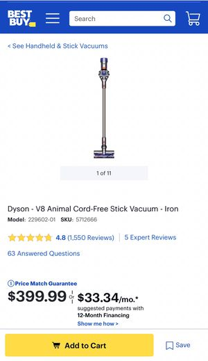 Dyson V8 Animal vacuum for Sale in West Covina, CA