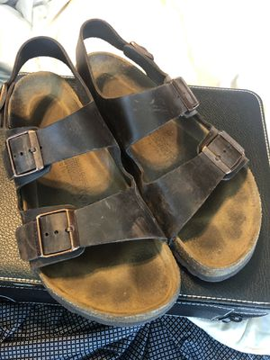 Men's Birkenstock size 43 w back strap for Sale in Roanoke, TX