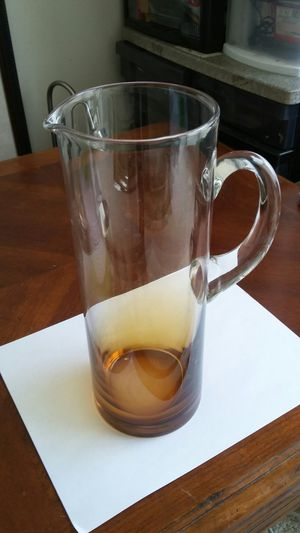 BEAUTIFUL NEW GLASS PITCHER for Sale in Alexandria, VA