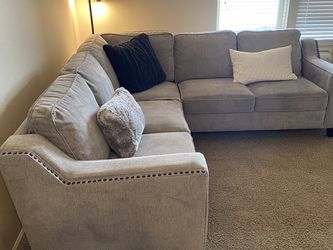 Beautiful Soft Grey Section Couch - $700 for Sale in Vancouver,  WA