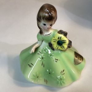 Vintage Josef Originals Emerald MAY Birthday Girl - Doll of Month Figurine 1963 Porcelain for Sale in San Lorenzo, CA