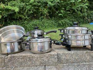 10 pc West Bend Kitchen Craft Waterless Stainless Cookware Set / Great for Induction stove for Sale in Marietta, GA