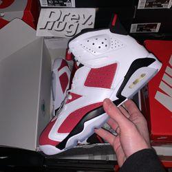 Air Jordan 6 Retro Carmines (2021) Sizes 8, 9.5, 10, 10.5, 12, 12.5, for Sale in Erdenheim,  PA