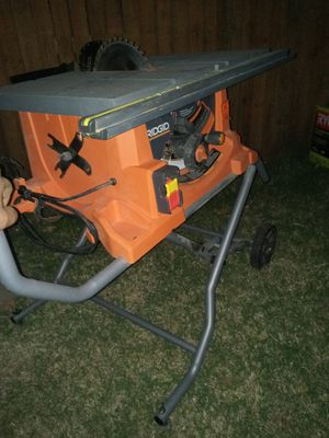 Table saw ridgid 10 in for Sale in Irving, TX