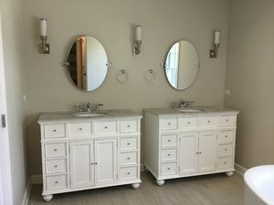 Matching Master Bath Single Vanities with Mirrors for Sale in Downers Grove, IL