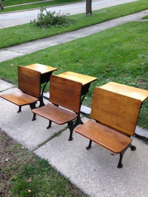 Three vintage school desks for Sale in Hinsdale, IL