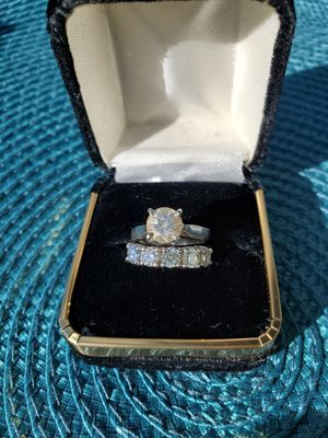 1.25k Brilliant Round solitaire Engagement ring & .97k Wedding ring $4500 for Sale in Oceanside, CA