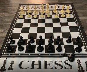 """Giant 3' X 4' Mat Chess Game – Indoor Outdoor Family Game – Lawn Game –Piece Range from 3-6"""" Tall for Sale in Syracuse, NY"""