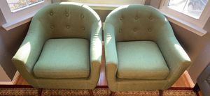 Nice set ofgreen sofa chairs for Sale in Fairfax, VA
